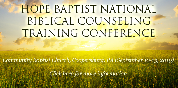 Hope Biblical Counseling Center | Dr  Terry L  Coomer